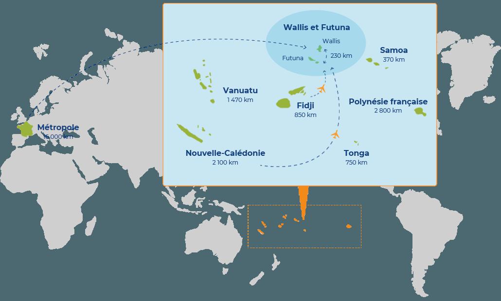 Carte de Wallis et Futuna